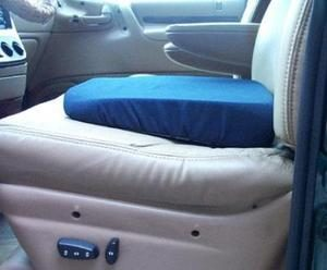 Twill Auto Seat Wedge – Blue