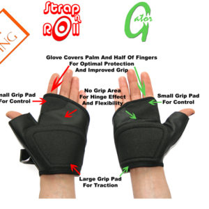Strap N Roll Wheelchair Gloves